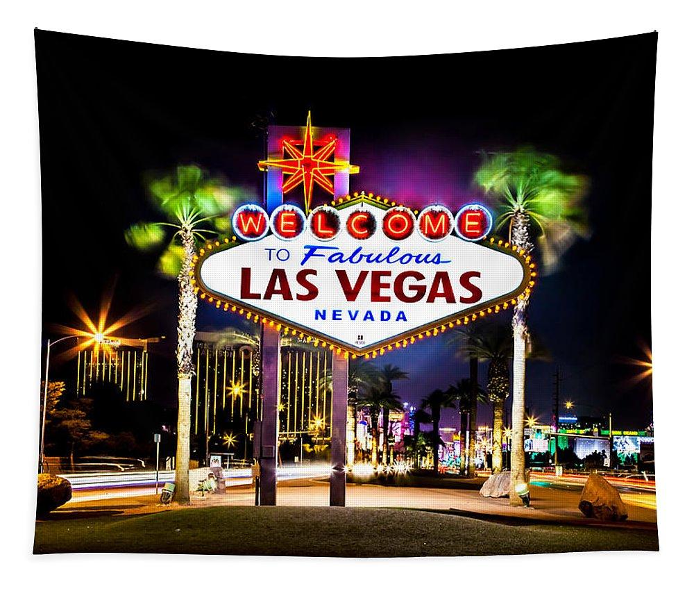 Las Vegas Tapestry featuring the photograph Las Vegas Sign by Az Jackson