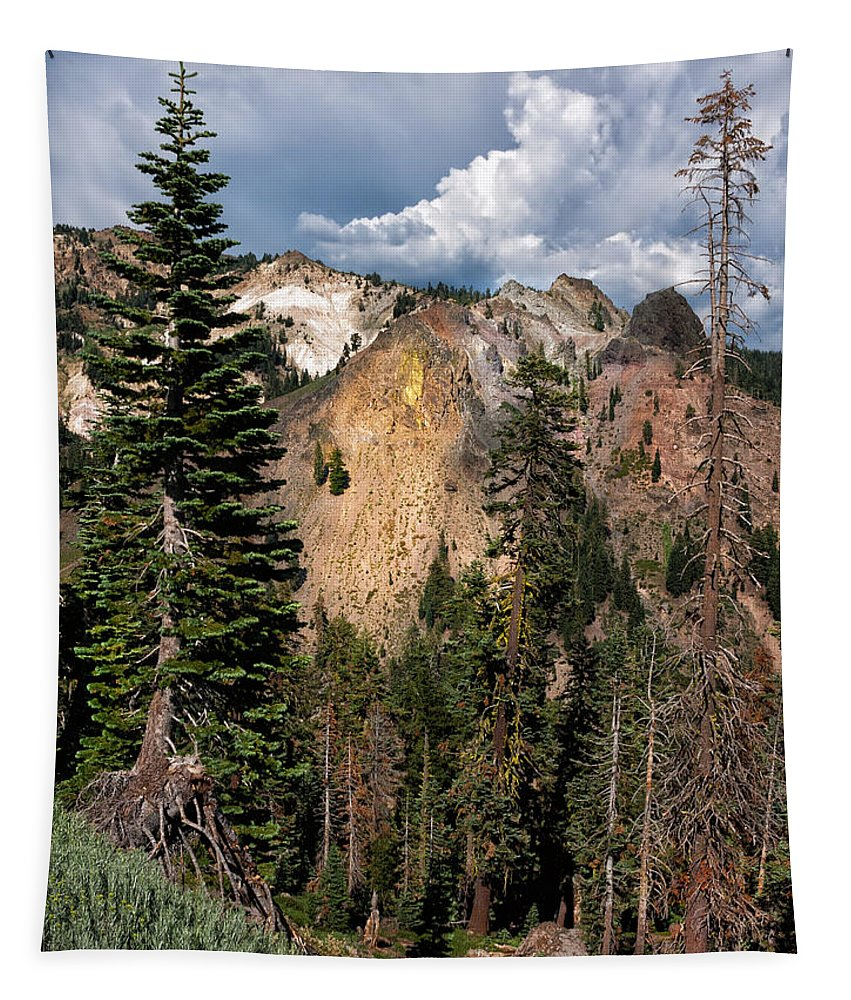 Mountain Scenery Tapestry featuring the photograph Lassen Volcanic by Kathleen Bishop
