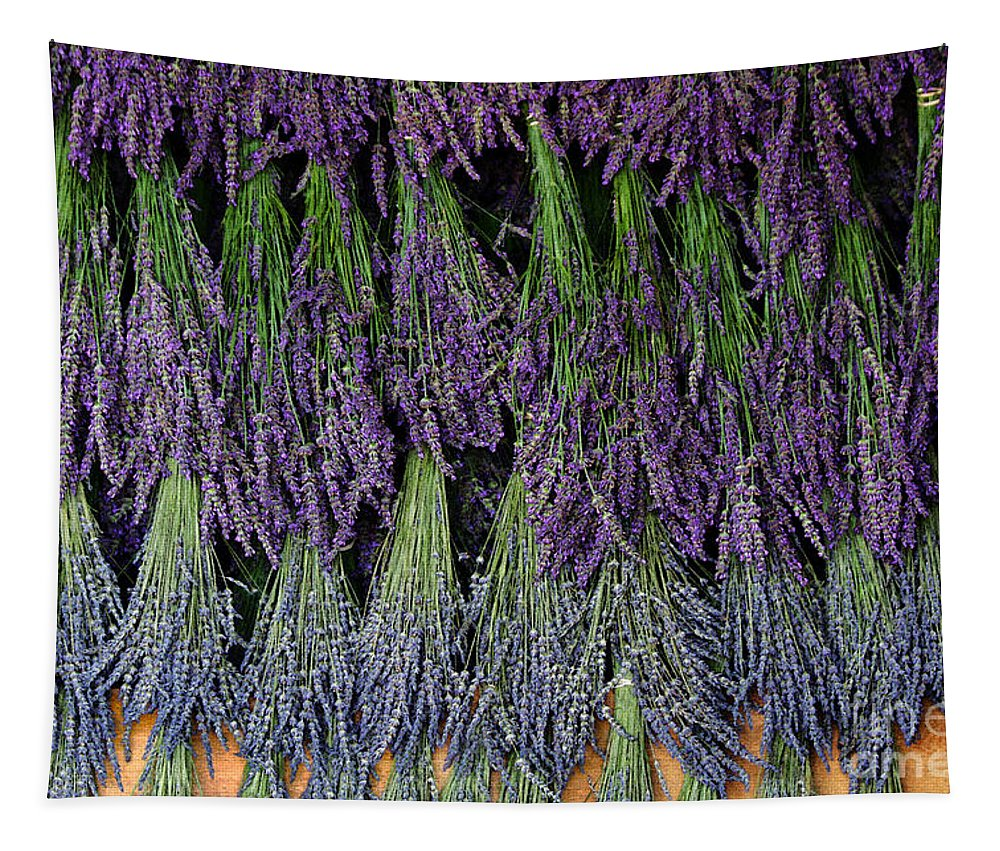 Lavender Tapestry featuring the photograph Lavender Drying Rack by Catherine Sherman