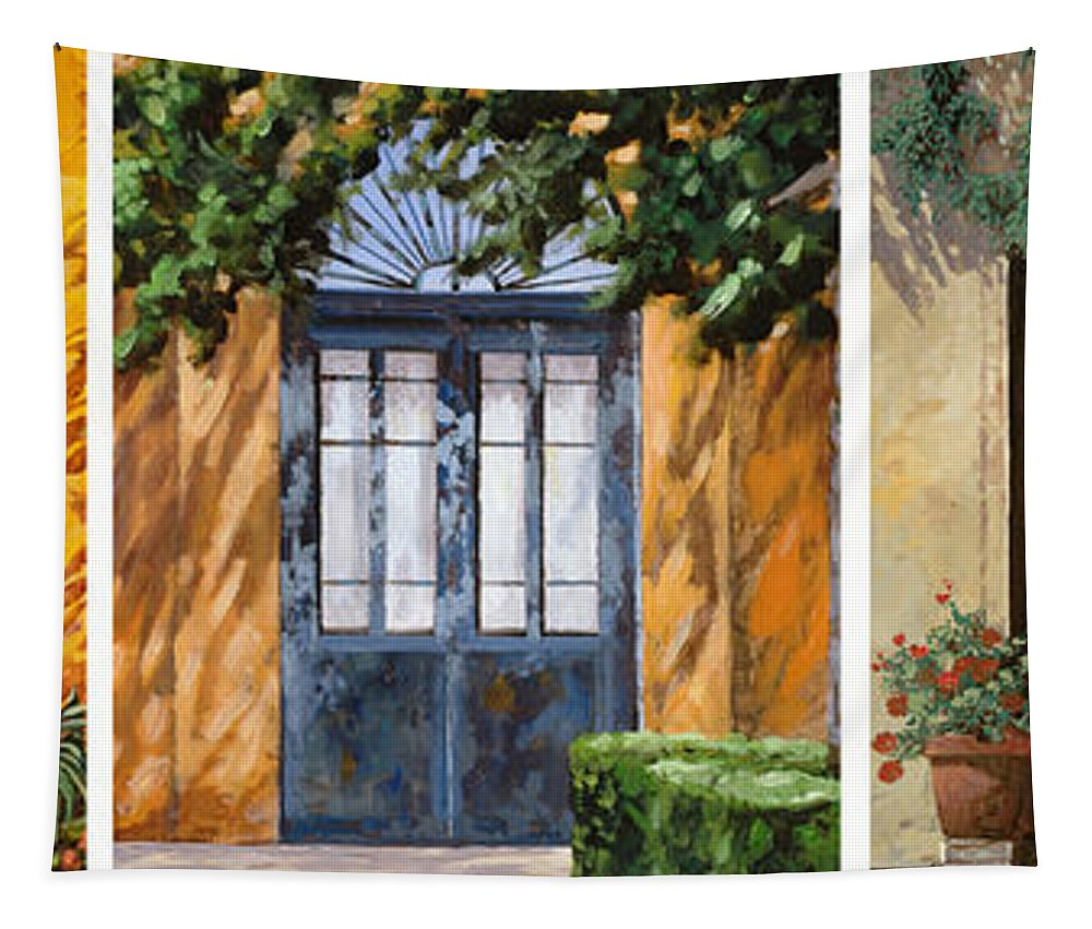 5 Doors Tapestry featuring the painting Le 5 Porte by Guido Borelli