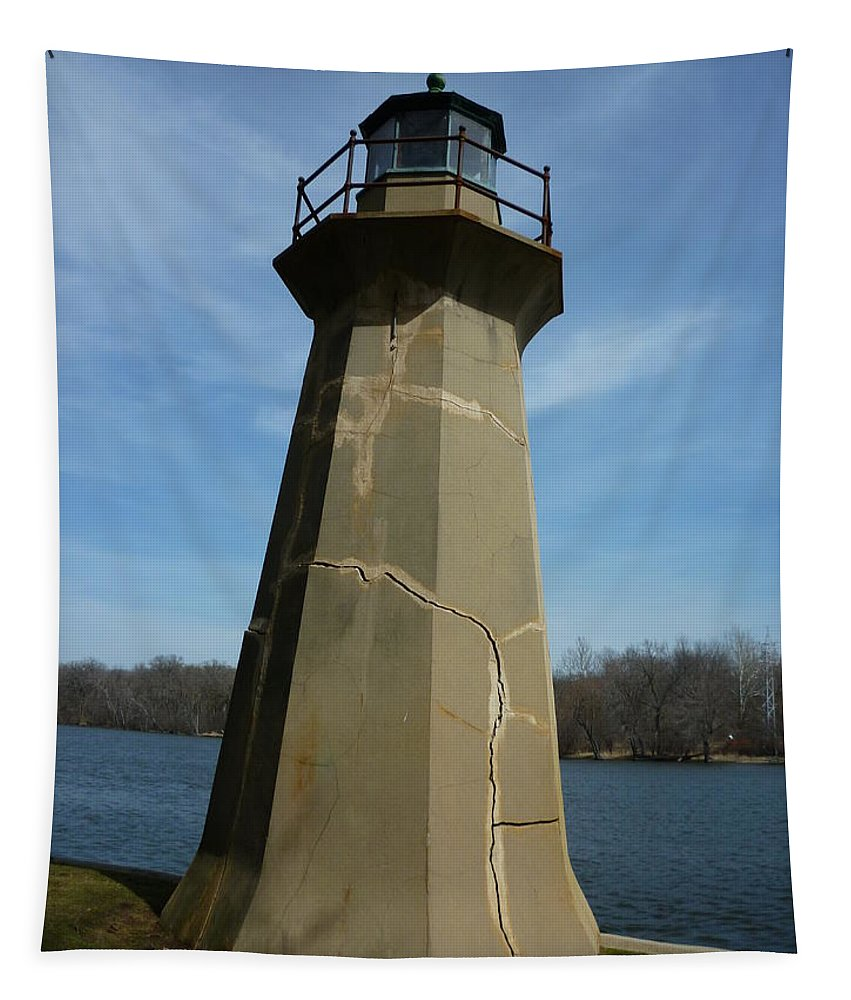 Lighthouse Tapestry featuring the photograph Leaning Lighthouse by Ely Arsha
