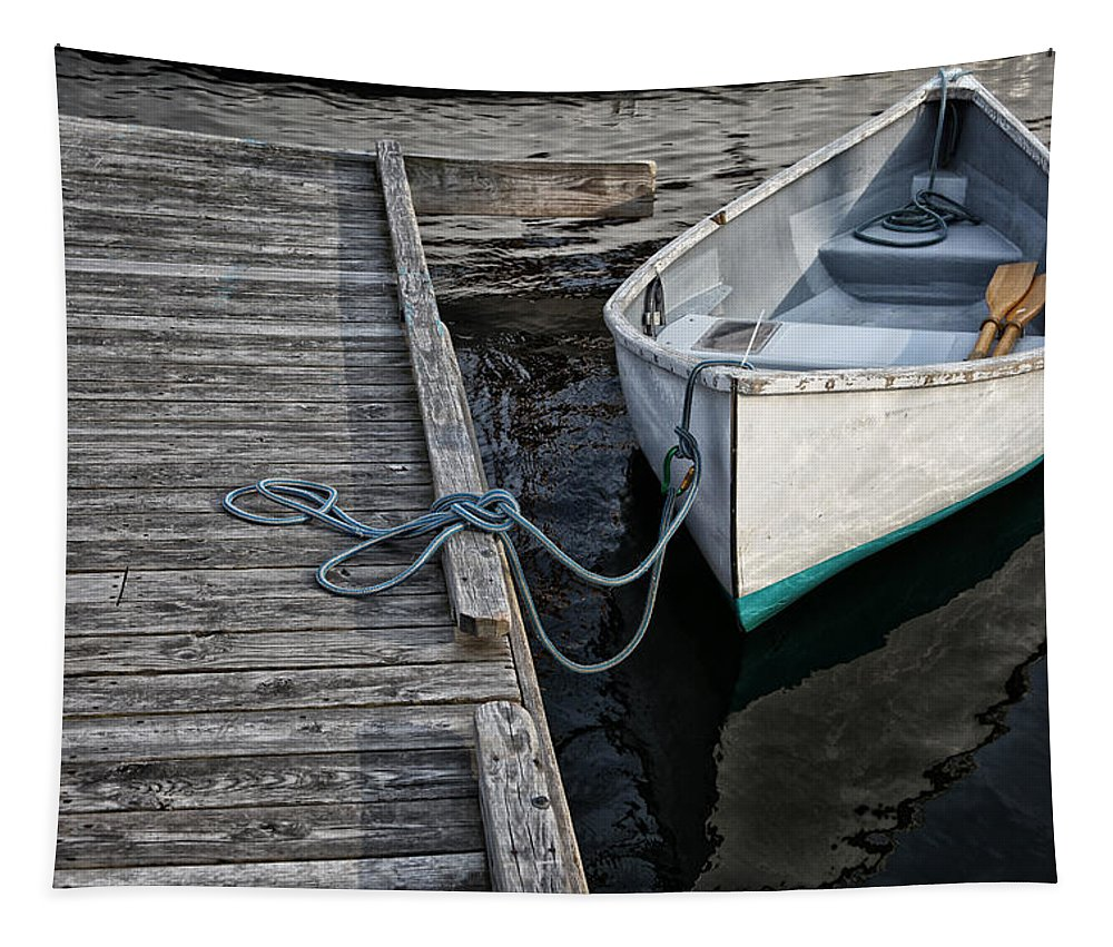 Boat Tapestry featuring the photograph Left At The Dock by Karol Livote