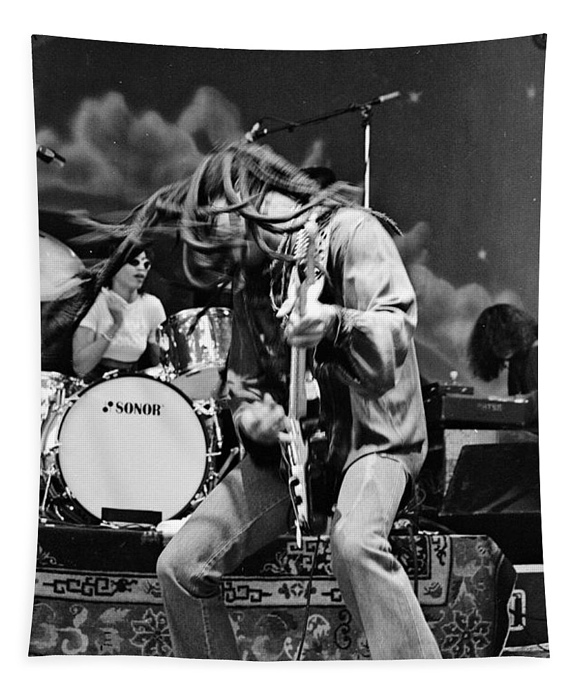 Lenny Kravitz Tapestry featuring the photograph Lenny023 by Timothy Bischoff