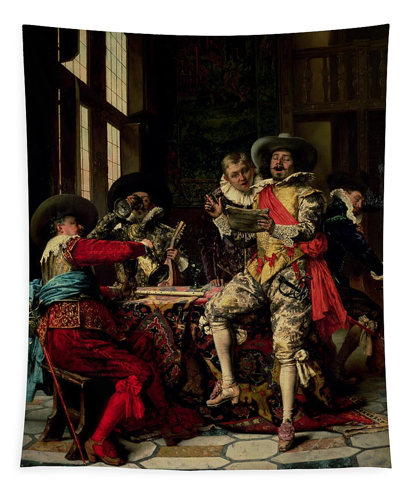 Singers Tapestry featuring the photograph Les Chanteurs by Adolphe Alexandre Lesrel