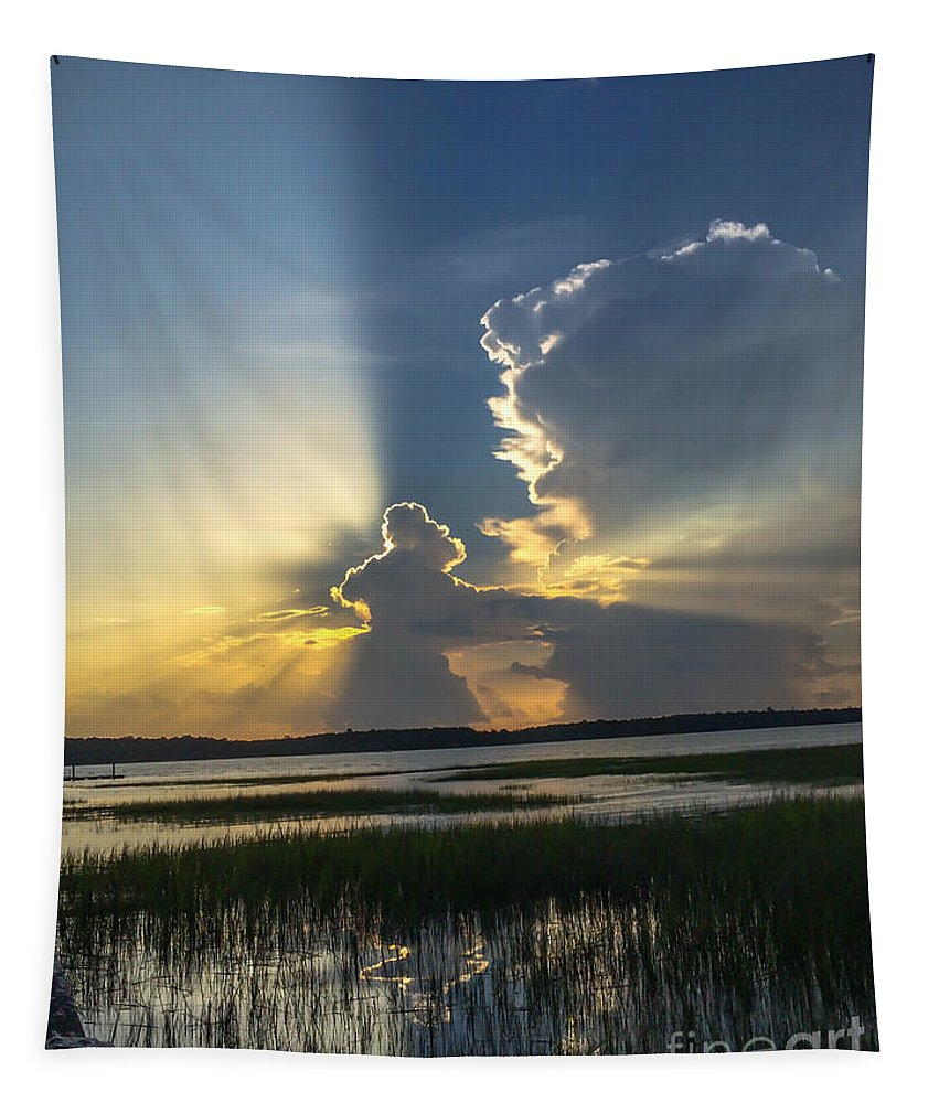 Sunset Tapestry featuring the photograph Let There Be Light by Dale Powell
