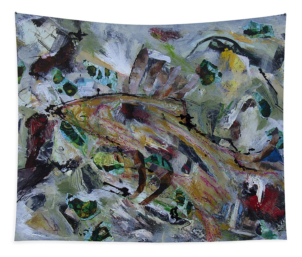 Leviathan Tapestry featuring the painting Leviathan by Dominic Piperata