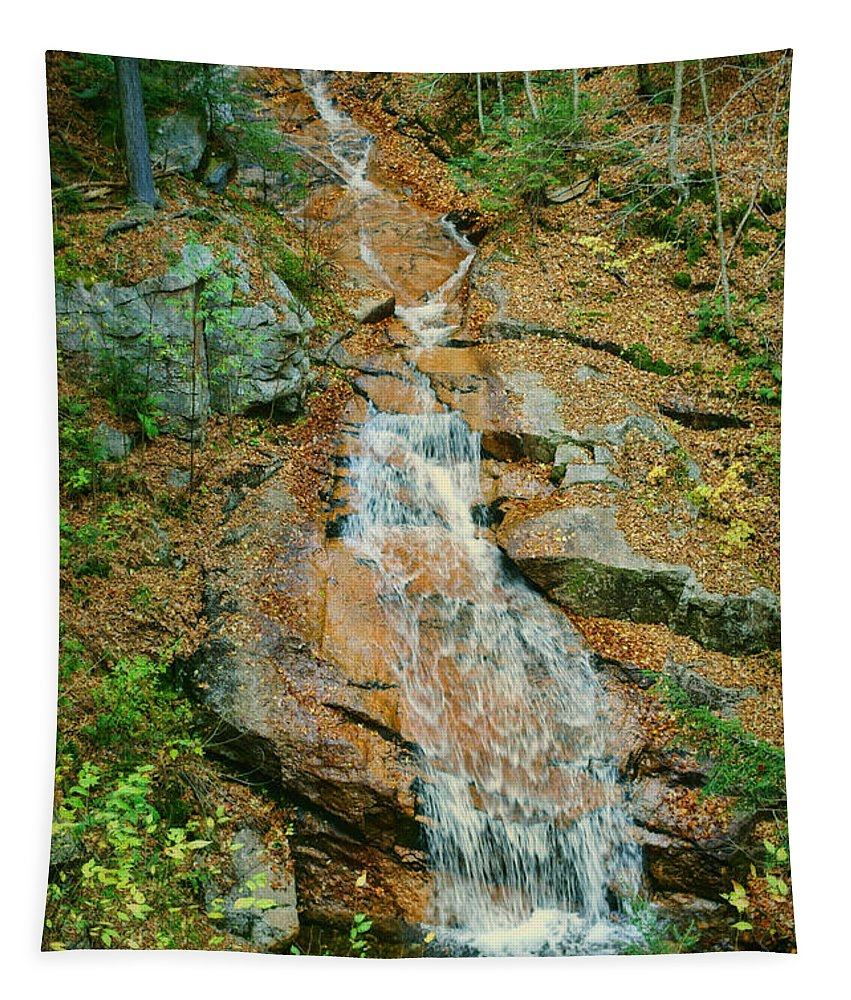 Liberty Tapestry featuring the photograph Liberty Gorge Falls by Nikolyn McDonald