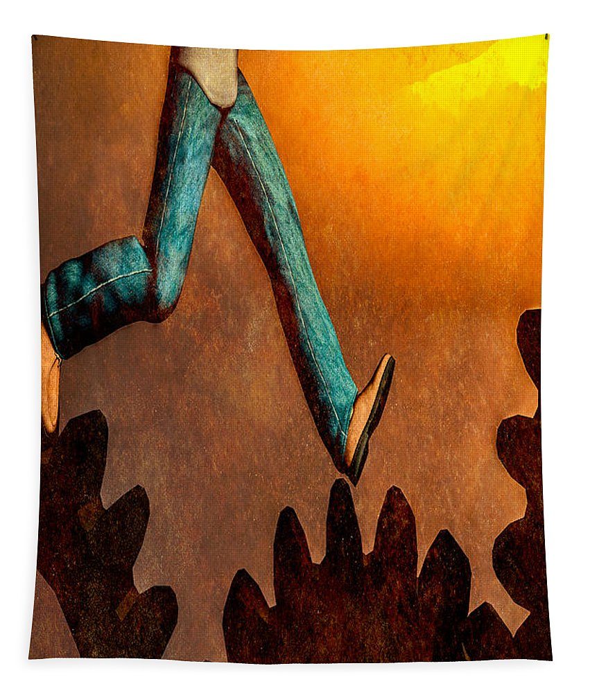 Surreal Tapestry featuring the painting Life by Bob Orsillo
