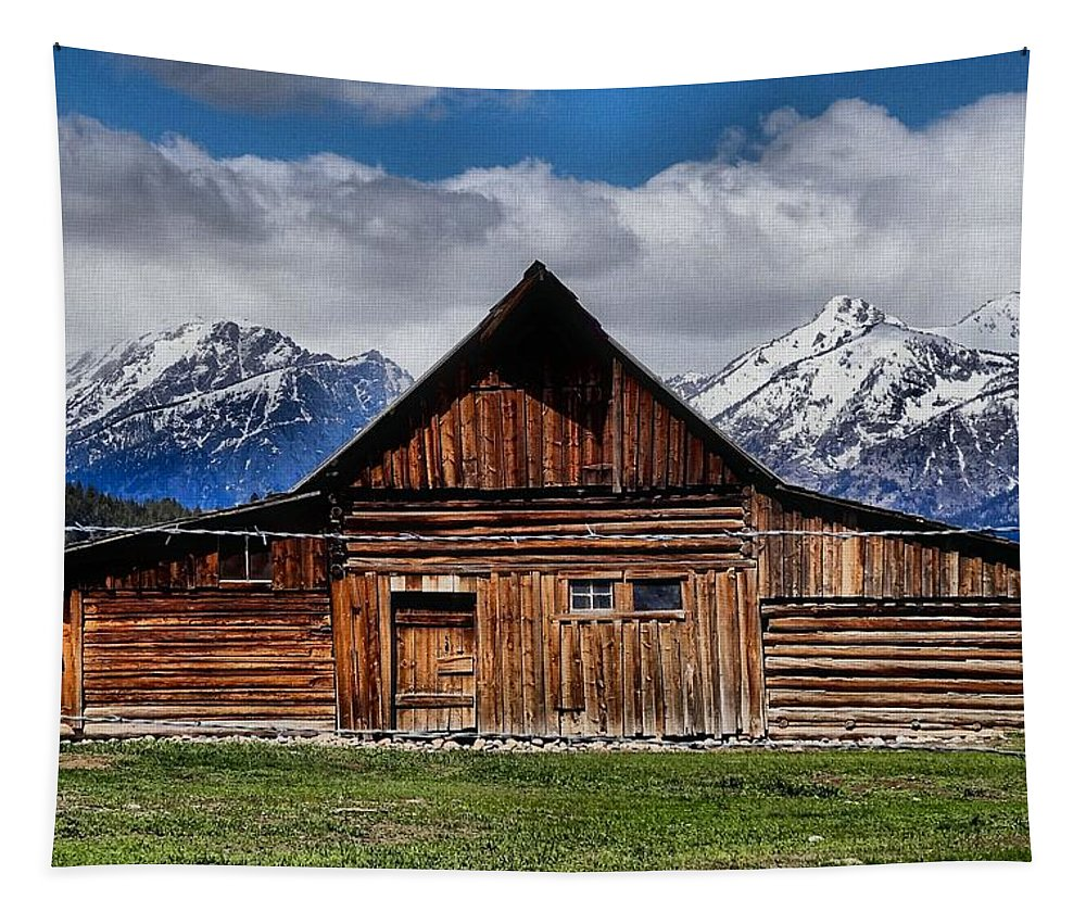 Cabin Tapestry featuring the photograph T A Moulton Barn by Dan Sproul