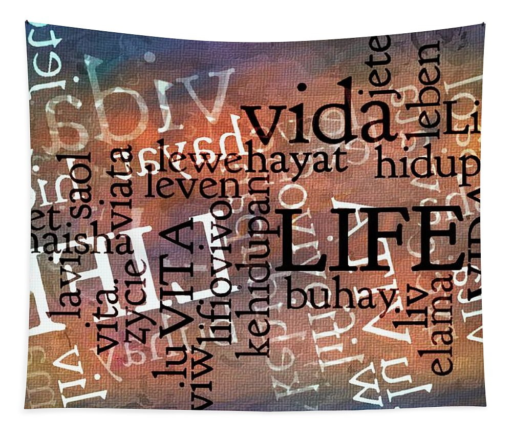 Words That Mean Life Tapestry featuring the photograph Life Letters Two by Alice Gipson