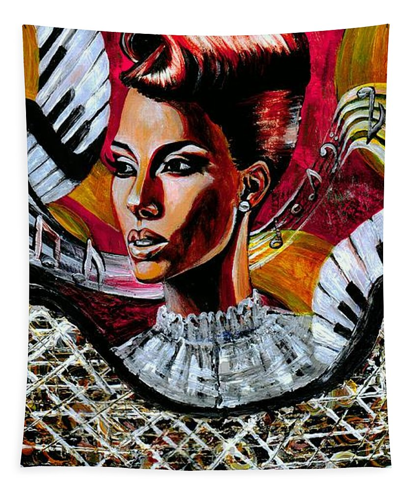 Alicia Keys Tapestry featuring the photograph Life May Put You On Crazy Roller-coaster Rides But When Your Song Plays... by Artist RiA