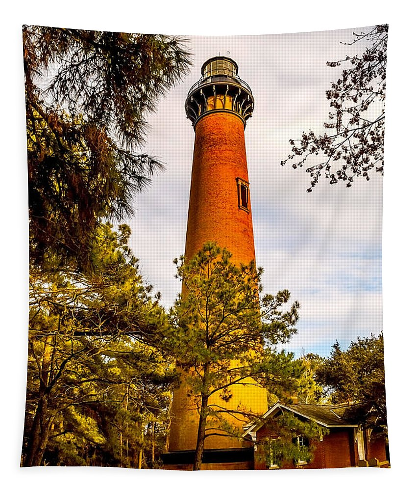 Architecture Tapestry featuring the photograph Light At Currituck by Nick Zelinsky