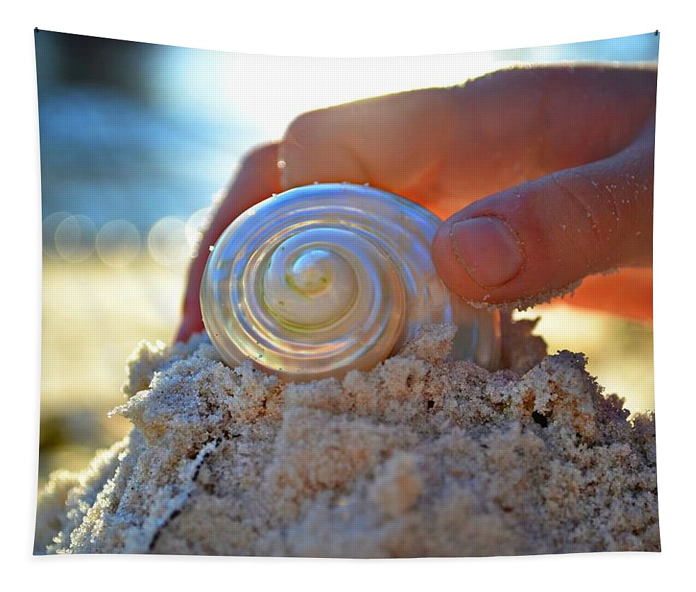 Beach Tapestry featuring the photograph Light Of Creation by Laura Fasulo