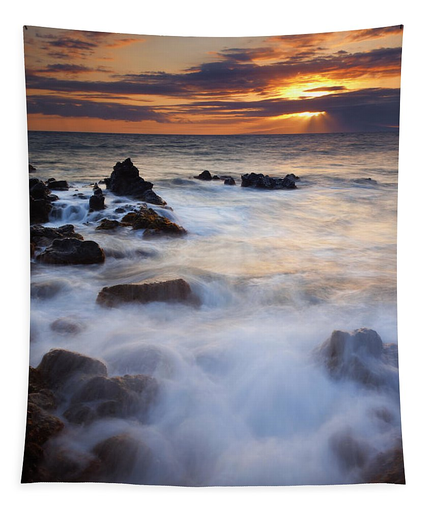 Lanai Tapestry featuring the photograph Light Over Lanai by Mike Dawson