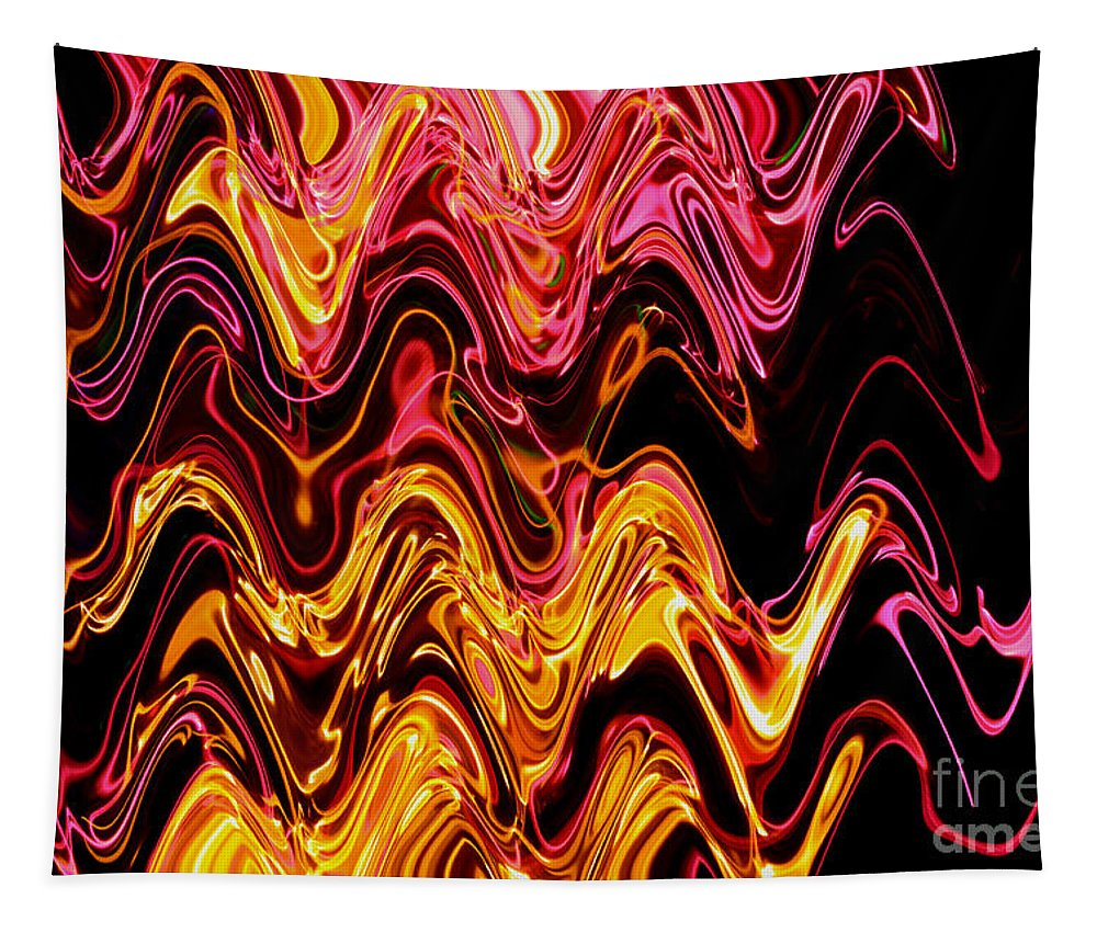 Abstract Tapestry featuring the photograph Light Painting 5 by Delphimages Photo Creations
