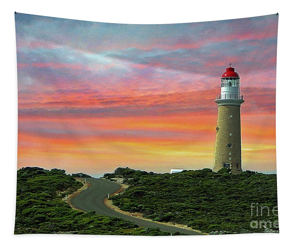 Landscape Tapestry featuring the photograph Lighthouse 2 by Ben Yassa