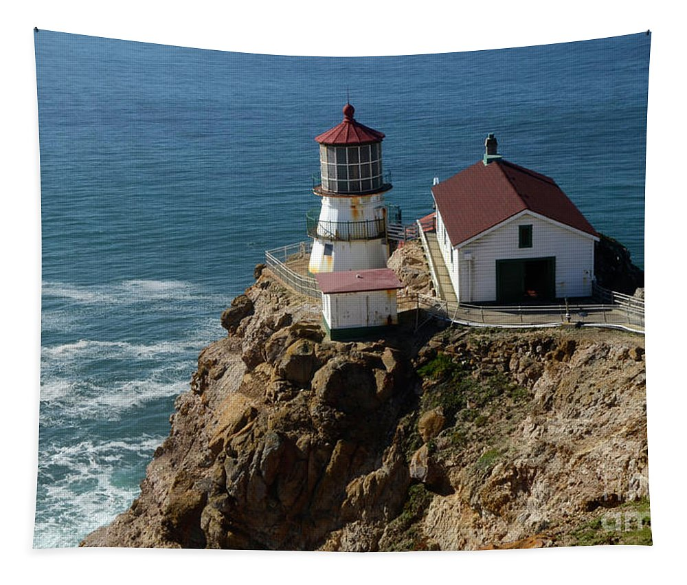Peace Tapestry featuring the photograph Lighthouse At Point Reyes by Bob Christopher