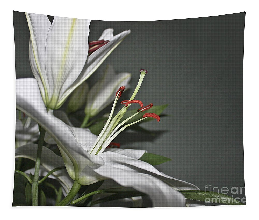 Nature Tapestry featuring the photograph White Lilies by Terri Waters