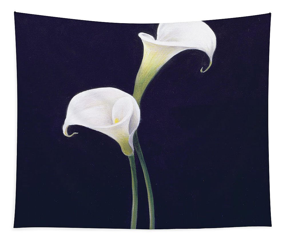 White; Lilies; Still Life; Flower Tapestry featuring the painting Lily by Lincoln Seligman