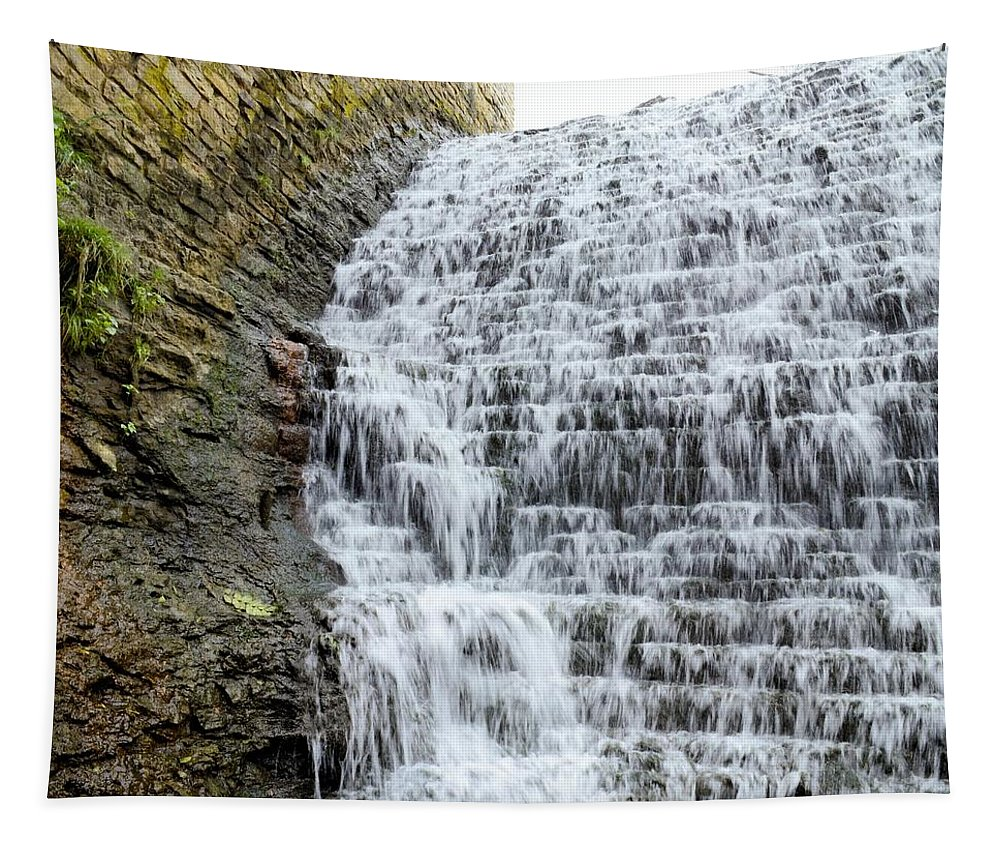 Dam Tapestry featuring the photograph Limestone Falls 2 by Bonfire Photography