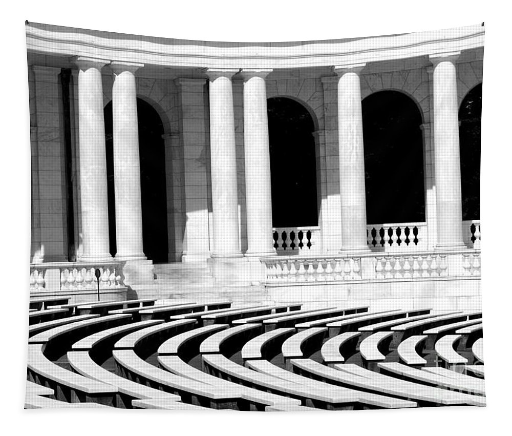 Arlington Tapestry featuring the photograph Lines And Curves by Paul W Faust - Impressions of Light