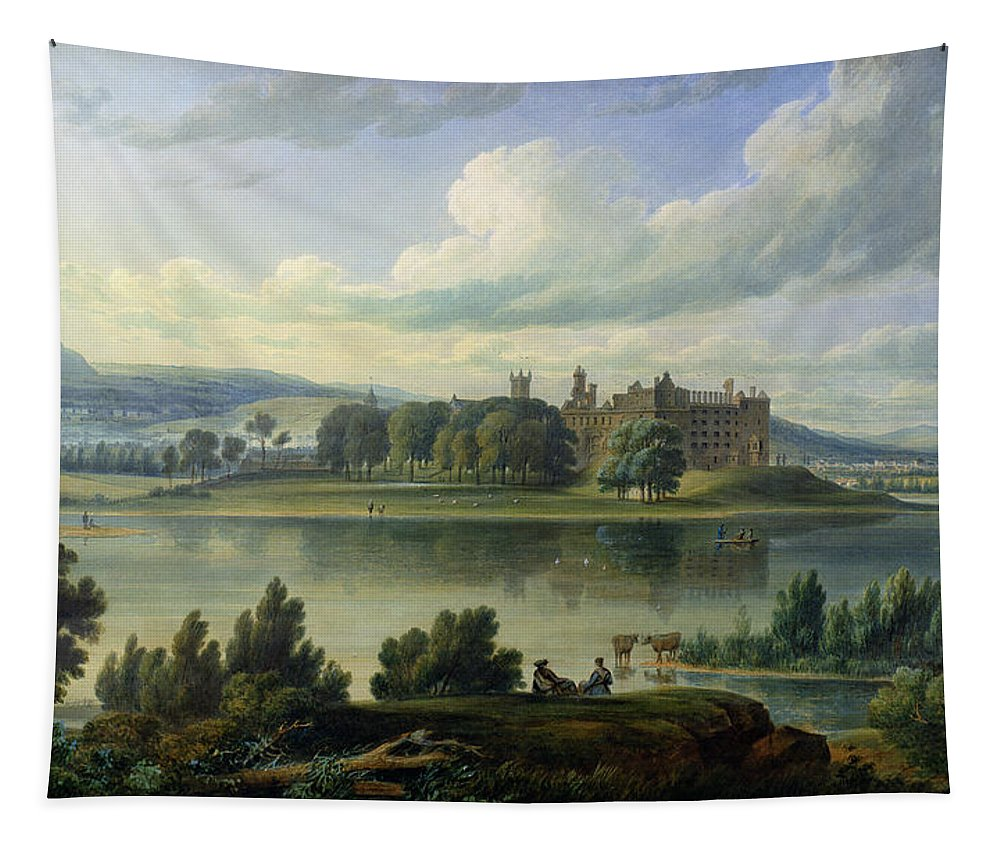 Tapestry featuring the painting Linlithgow Palace by Scottish School