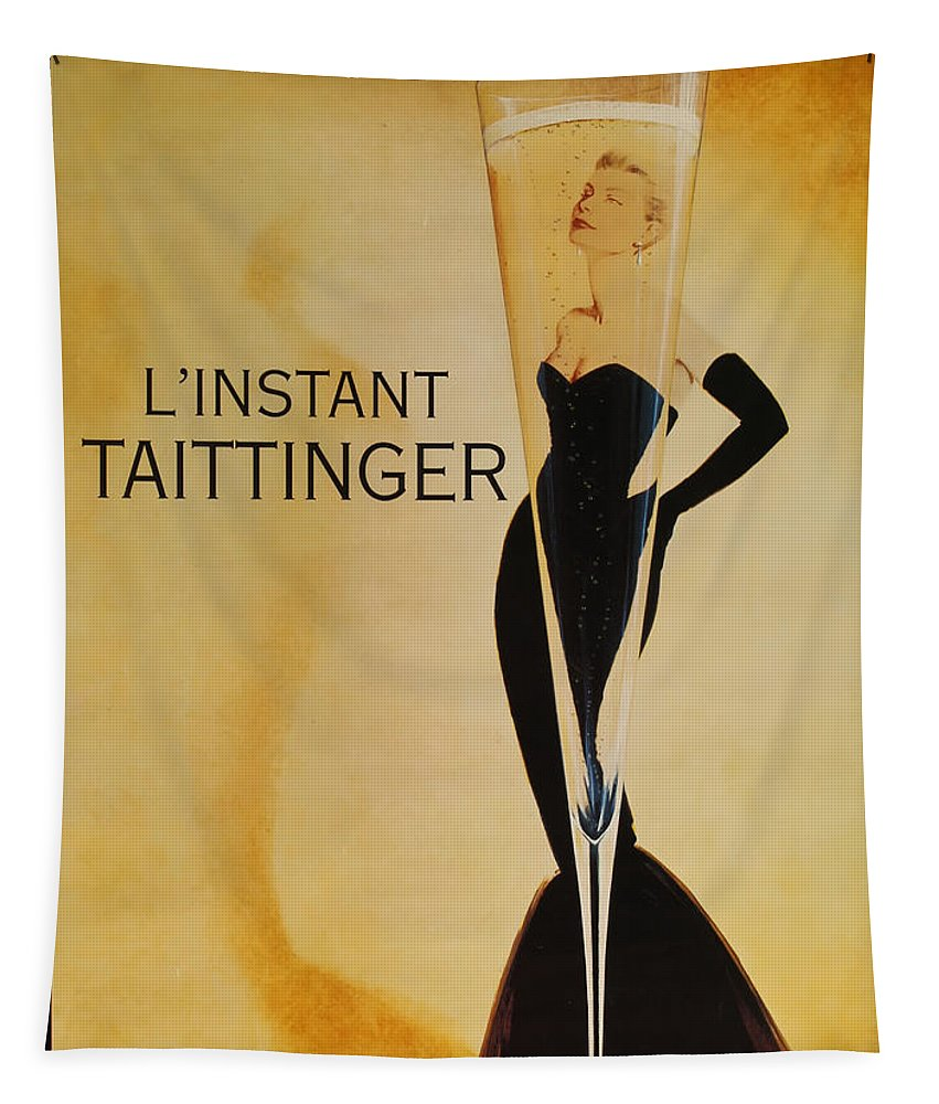 L'instant Taittanger Tapestry featuring the digital art L'Instant Taittinger by Georgia Fowler