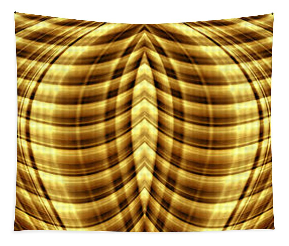 Liquid Gold 1 Tapestry featuring the digital art Liquid Gold 1 by Wendy Wilton