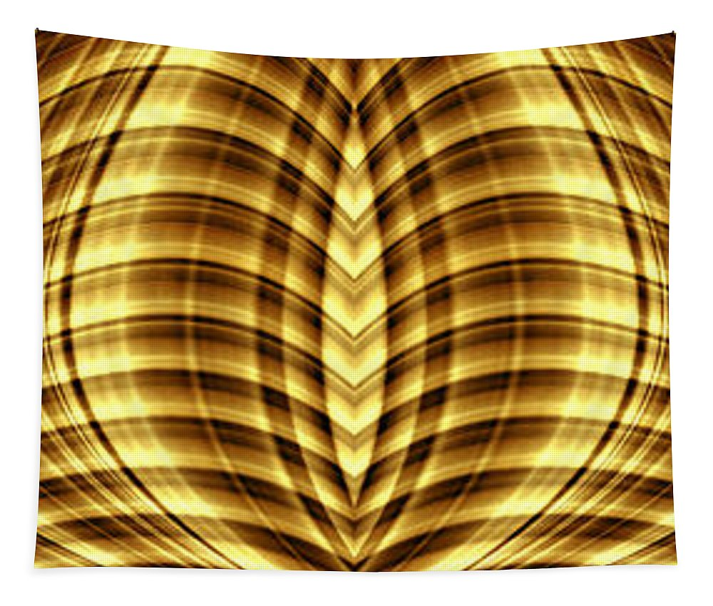 Liquid Gold 3 Tapestry featuring the digital art Liquid Gold 3 by Wendy Wilton