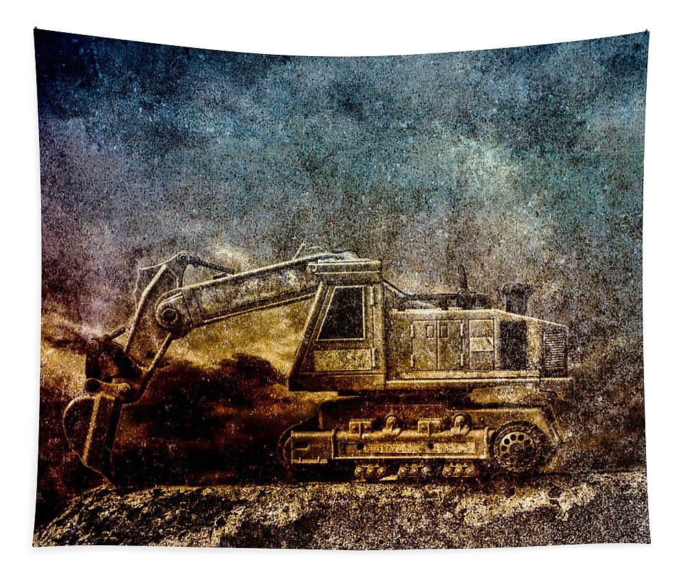 Industrial Tapestry featuring the photograph Little Big Truck by Bob Orsillo