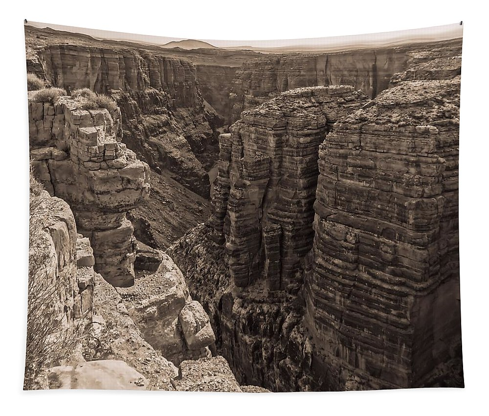 Little Colorado River Overlook Tapestry featuring the photograph Little Colorado River Overlook by Dan Sproul