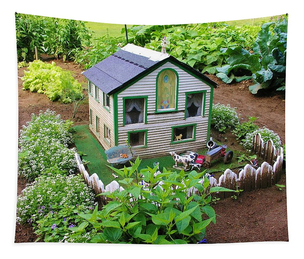 Garden Tapestry featuring the photograph Little Garden Farmhouse by Sherman Perry
