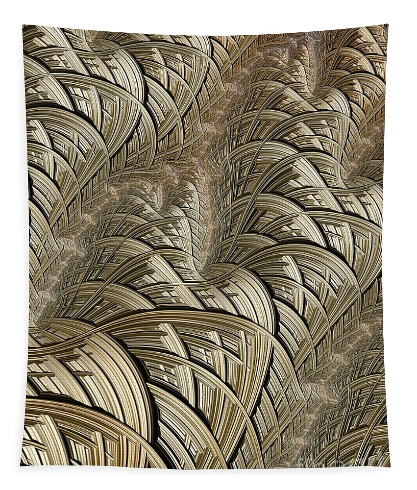 Litzendraht Abstract Tapestry featuring the digital art Litz Wire Abstract by John Edwards