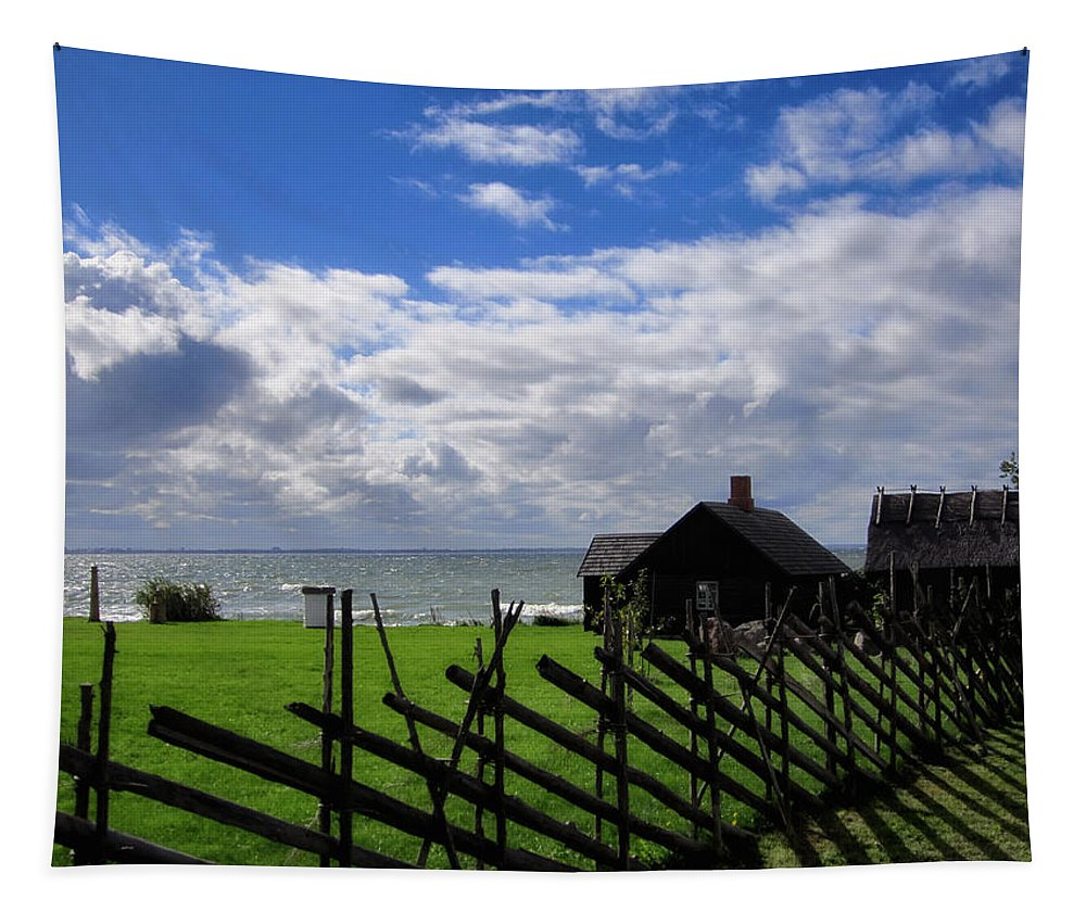 Landscape Tapestry featuring the photograph Living By The Sea by Mountain Dreams