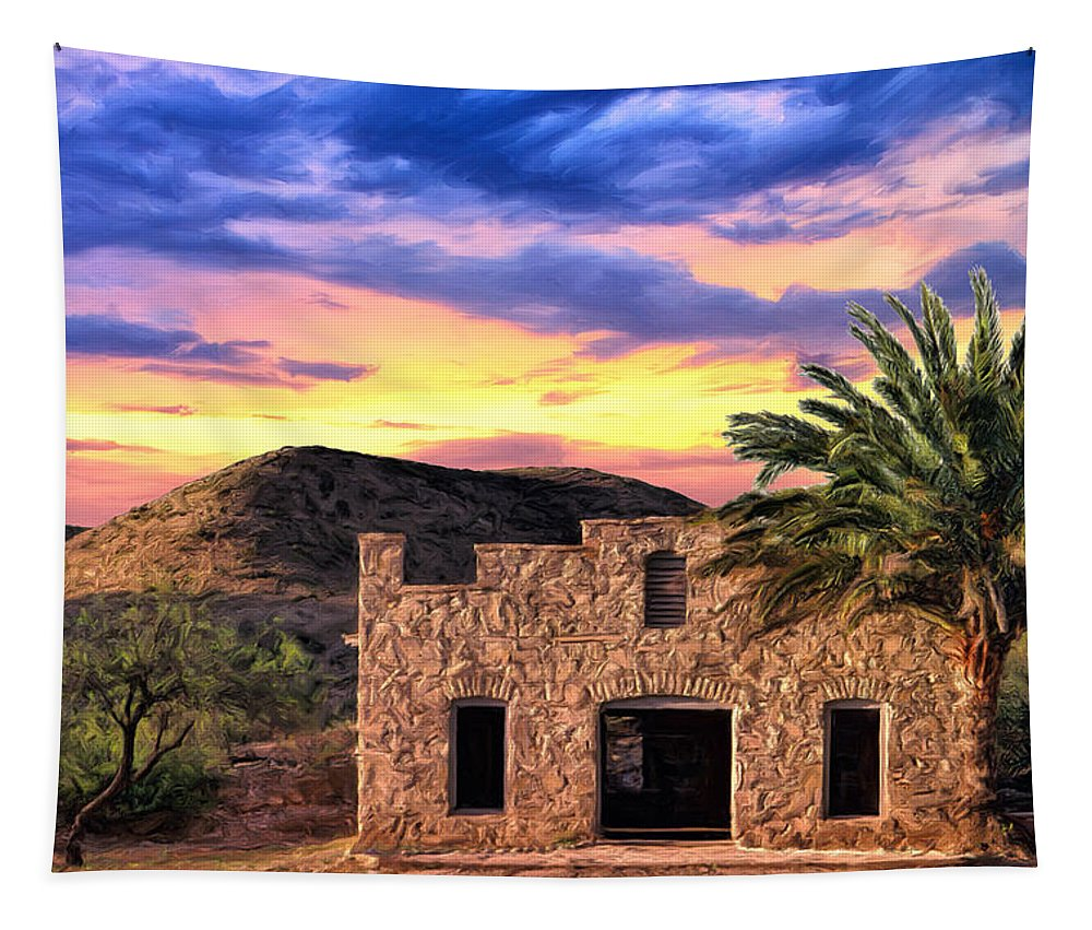Lone Star Tapestry featuring the painting Lone Star Sunset by Dominic Piperata