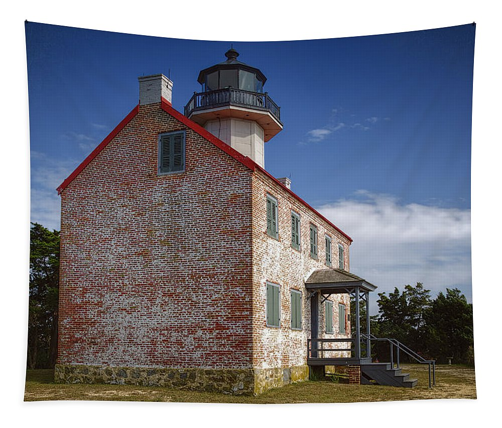 Joan Carroll Tapestry featuring the photograph Lonely East Point Lighthouse by Joan Carroll