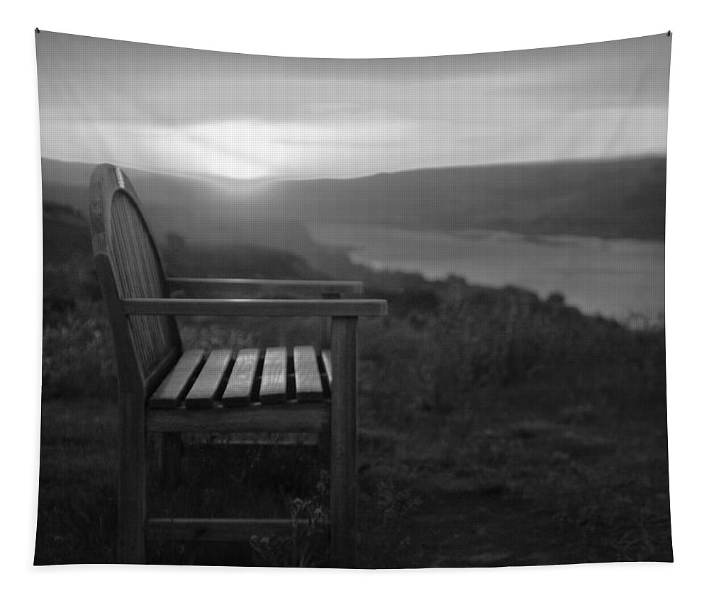 Columbia Gorge Tapestry featuring the photograph Lonely In The Waiting  by Jeff Swan