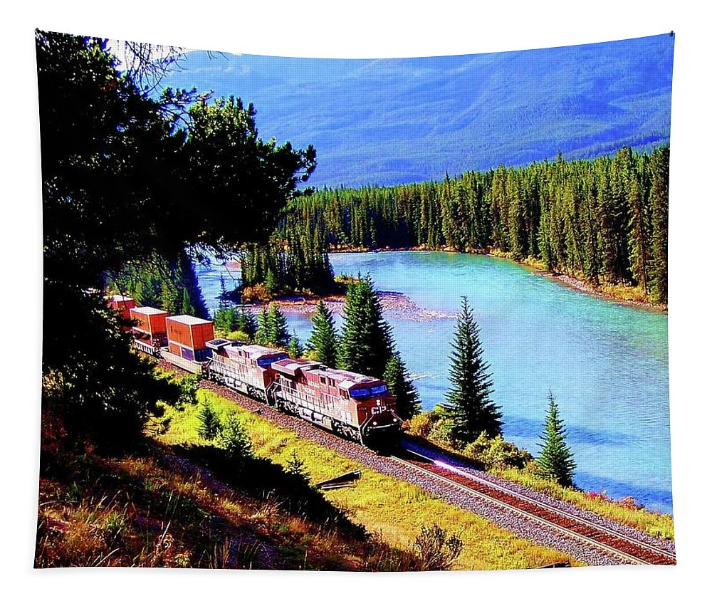 Train Tapestry featuring the photograph Longest Journey by Karen Wiles