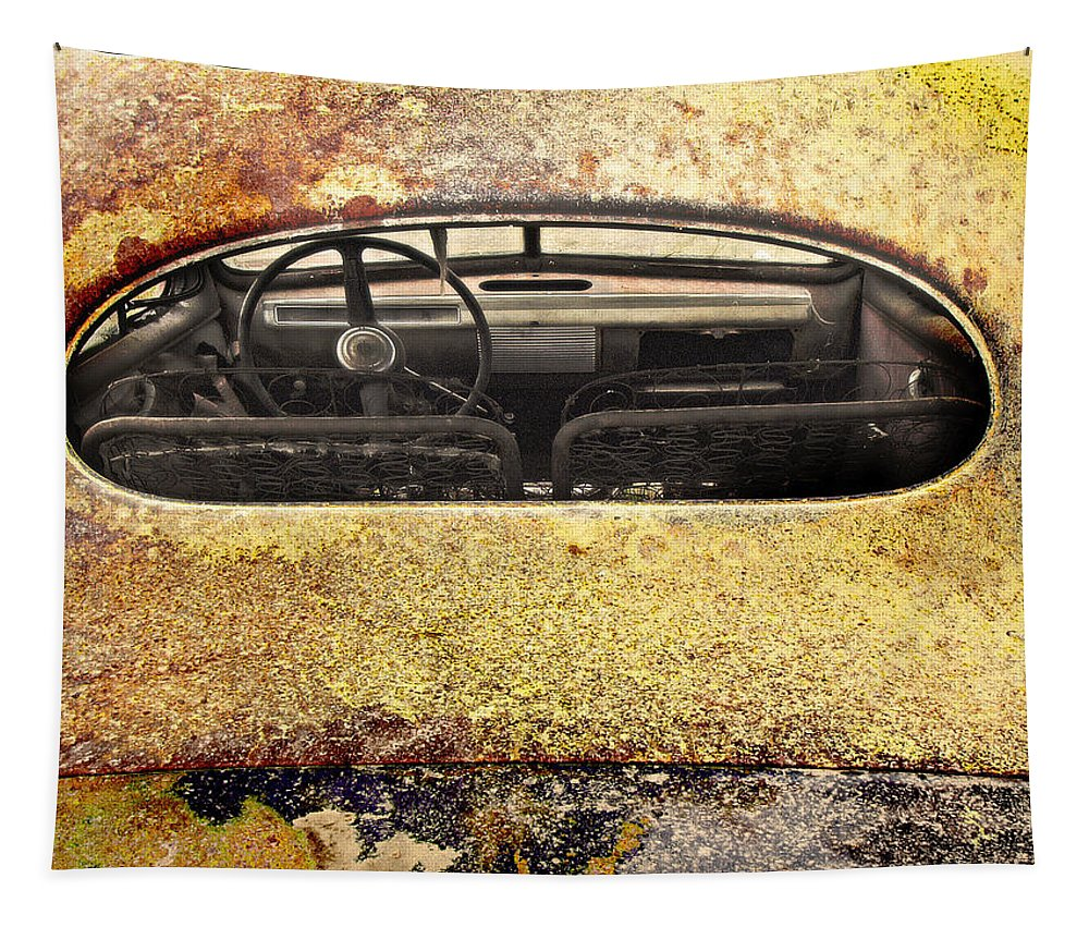 Cars Tapestry featuring the photograph Looking Back by John Anderson