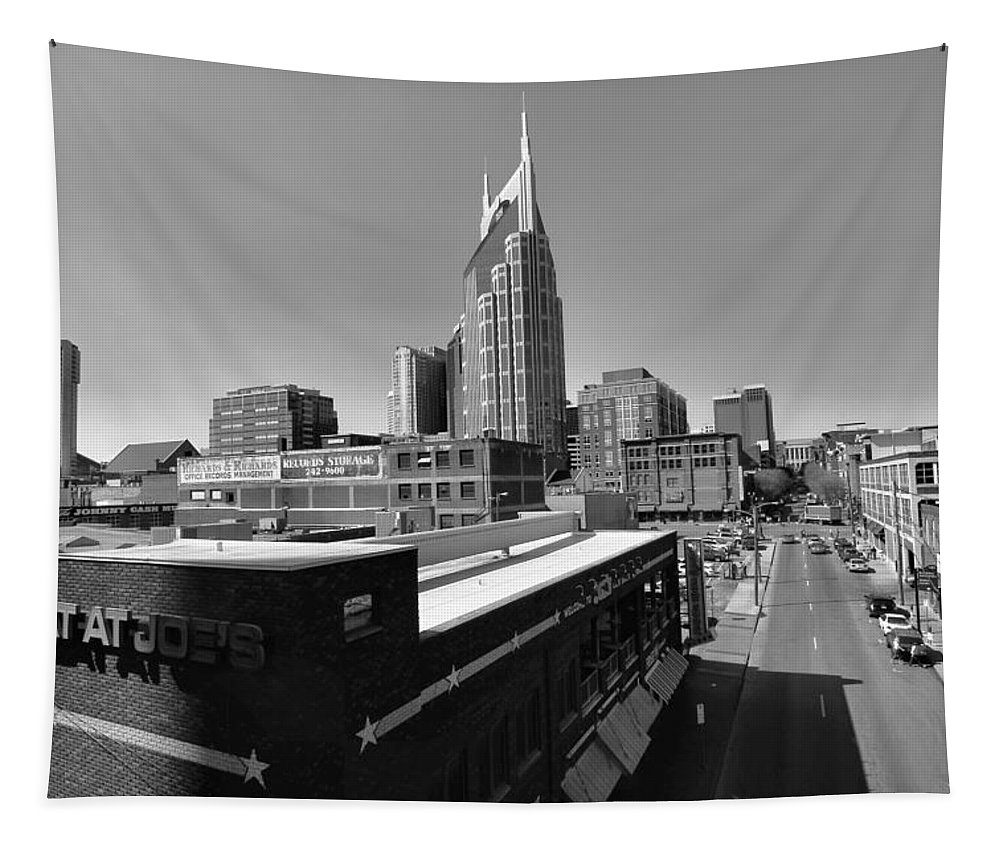 Looking Down On Nashville Tapestry featuring the photograph Looking Down On Nashville by Dan Sproul