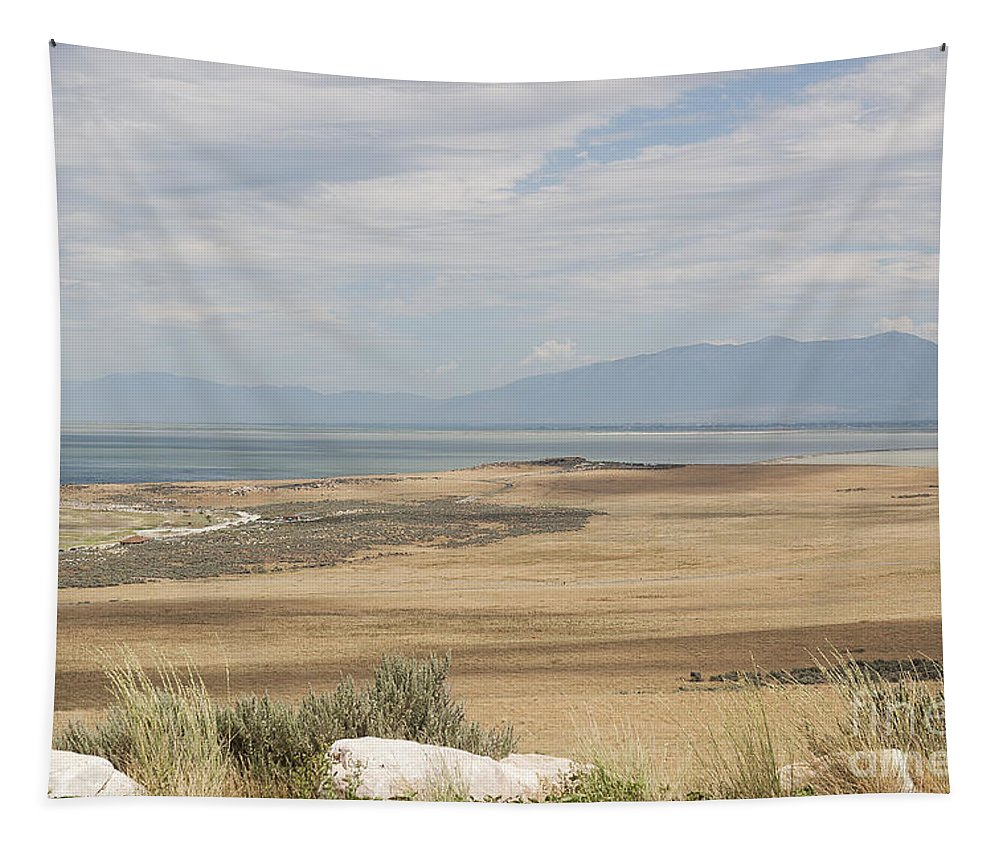 Lake Tapestry featuring the photograph Looking North From Antelope Island by Belinda Greb