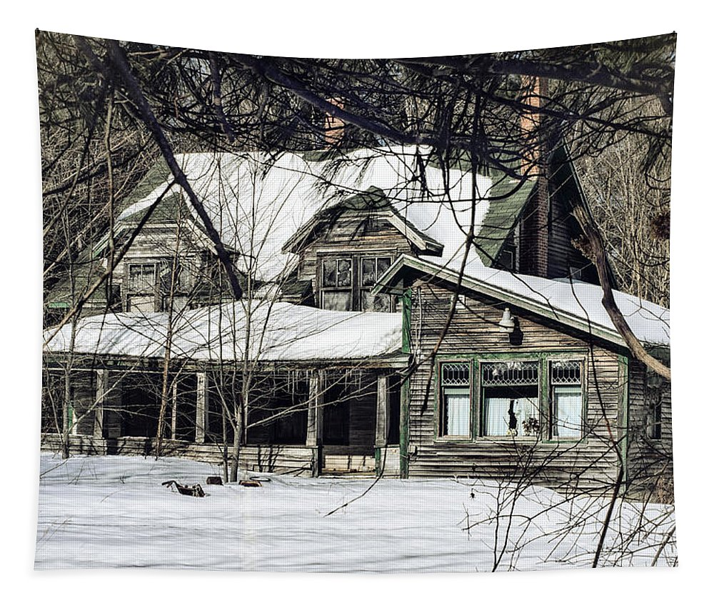 Old House Tapestry featuring the photograph Lost In Time by Susan Capuano