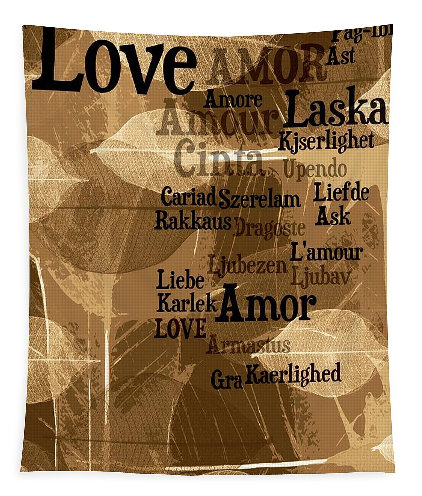 Love Tapestry featuring the photograph Love Leaves by Alice Gipson
