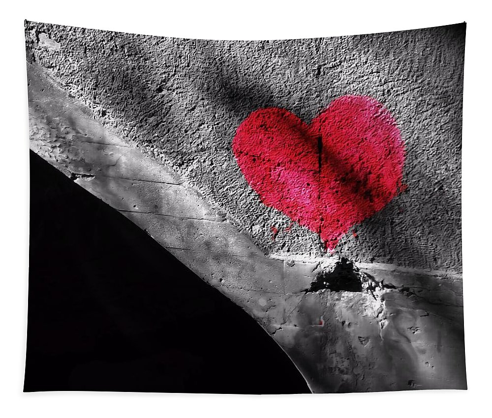 Love Under The Bridge Tapestry featuring the photograph Love Under The Bridge by Dan Sproul