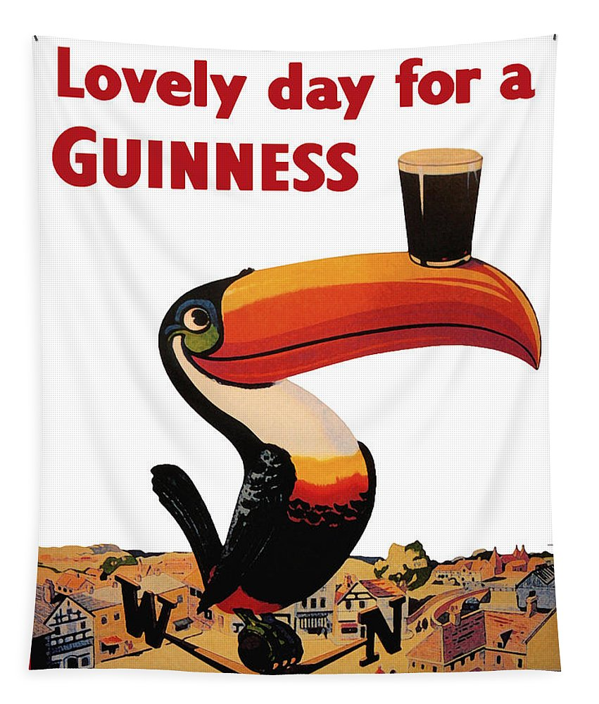 Lovely Day For A Guinness Tapestry featuring the digital art Lovely Day for a Guinness by Georgia Fowler