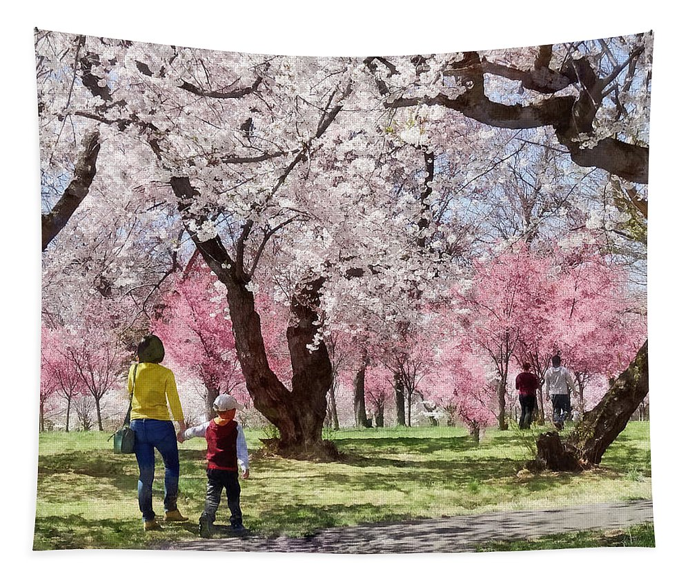 Spring Tapestry featuring the photograph Lovely Spring Day For A Walk by Susan Savad