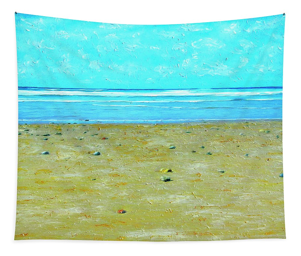 Beach Tapestry featuring the painting Low Tide by Dominic Piperata