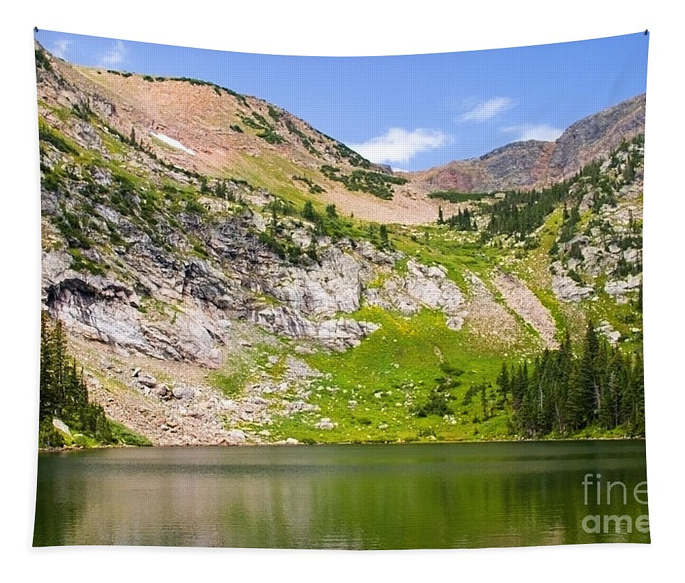 Crater Lakes Tapestry featuring the photograph Lower Crater Lake by Steve Krull