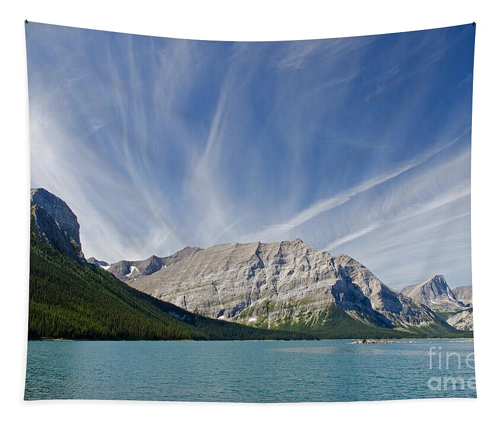 Spray Valley Tapestry featuring the photograph Lower Kananaskis Lake by Ralf Broskvar