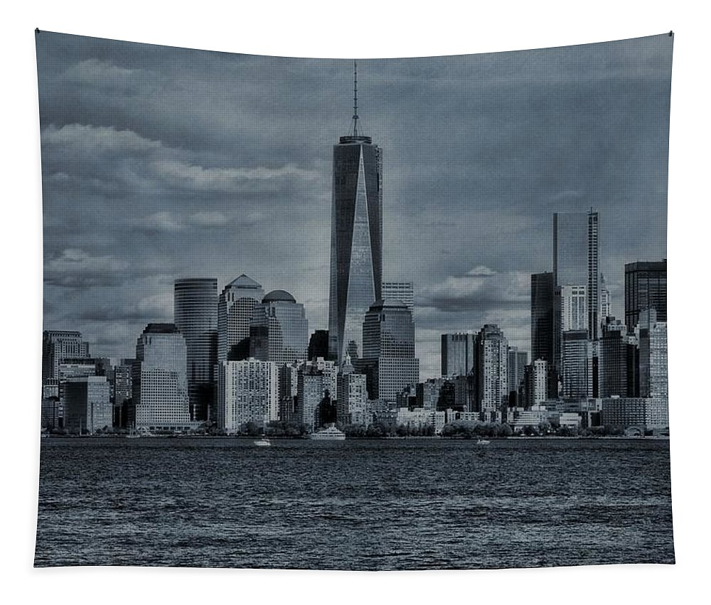 Lower Manhattan And The Freedom Tower Tapestry featuring the photograph Lower Manhattan And The Freedom Tower by Dan Sproul